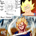 Before and After: Majin Vegeta (Video too!) by Dezby