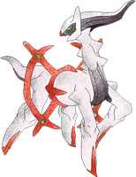 Fire Arceus by RougeSulfura