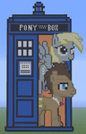 Minecraft - Doctor Whooves and Assisant (TARDIS) by Evostorm
