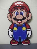 Super Mario made of beads by capricornc5