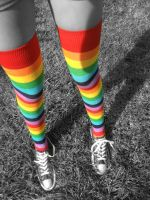 Rainbow Socks by TheCat101