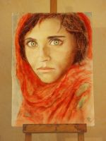 Afghanistan girl by tihappy