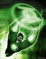hal jordan green lantern by artist Tom Kelly by TomKellyART
