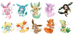 Evee Evolutions stickers sample by Puruniac