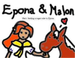 Epona and Malon 600 pageviews by HorseElena