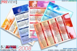 5 Bleach Pocket Calendars '08 by Lemonachi