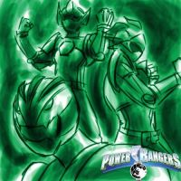 Power Rangers: Godzilla Force by HewyToonmore