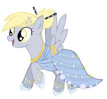 Gala Dress Derpy by ForeshadowART