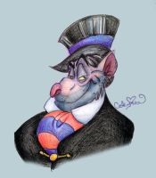 Day 40: Professor Ratigan by SteamboatLyssie