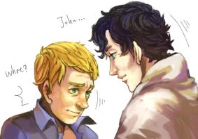 BBC sherlock and John by angla8011