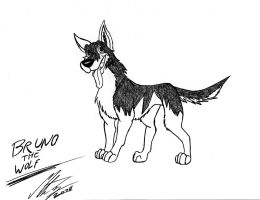 Bruno the wolf by MortenEng21