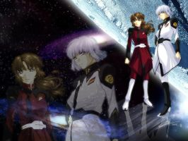 Wallpaper - GSD Yzak and Shiho by cutewarumono