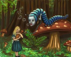 Alice and the Caterpillar by mreach