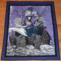 Nightmare Before Christmas Panel Quilt by quiltoni