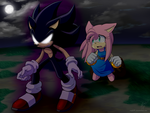 :Comm: Dark Sonic and Amy by Myly14