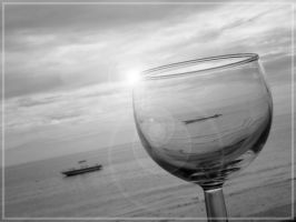 Boat into a glass by hitaak