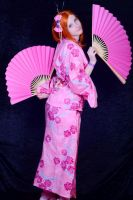 orihime cosplay kimono version 2 fan by kittychamallow