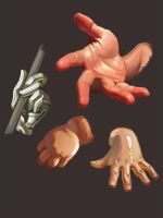 Hands Study by Adreean
