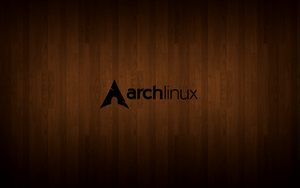 Arch Linux Wood Background by Tycon712