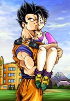 Dragonball Z - Gohan and Videl by TimothyJamesF