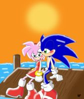 Sonamy in the Sunset by AdiPrower94