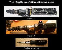 My first 2 attempts at a sonic screwdriver by GenieMiller