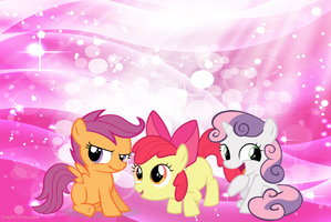 The Cutie Mark Crusaders Wallpaper by KirbyMLPPokemonfan1