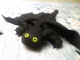 Night Fury Plush, Version 2 by fornwalt