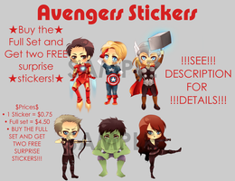 Avengers Stickers for Sale by Narutofan098