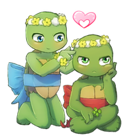 Raph and Leo Tot by CutieClovers