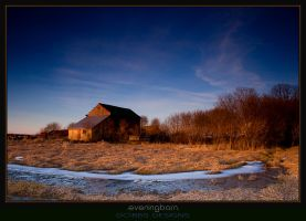 Evening Barn by leavenotrase