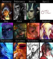 Calendar 2013 Progress by tanginova