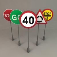 UK Road Signs 3D Model by wilde-media