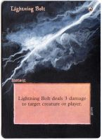 Magic Card Alteration: Lightning Bolt 3-2-14 by Ondal-the-Fool