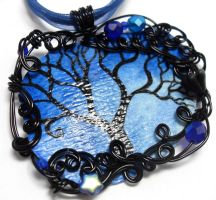 Twilight Forest Pendant no. 17 by sojourncuriosities