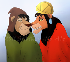 AT: Kuzco and Pacha by The-PirateQueen