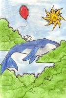 the whale and the balloon. by dreamcracks
