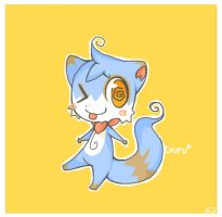Kuru the weird blue ferret by TheQuietDummy