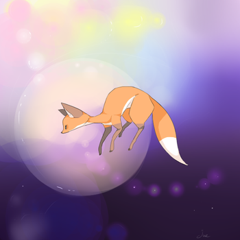 fox whimsy by juenavei