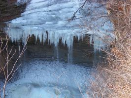 Frozen Clifty Falls by bigpaganjames