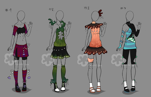 Pearl Outfits - sold by Nahemii-san