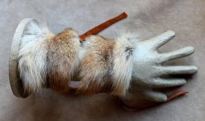 Red Coyote Fur Bracelets by lupagreenwolf