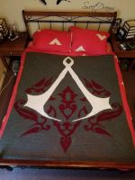 Assassin's Creed Crochet Graphghan (FOR SALE) by AmandaJayne00