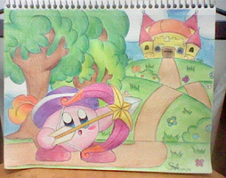 Archer Kirby!! by SuperMarioFan888