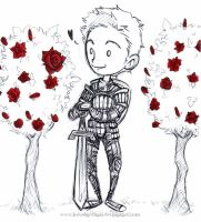 Alistair - roses by KeyshaKitty