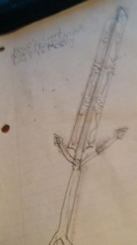 Steve draws:  extremely rough Rosie sword concept by UseTheBrakes