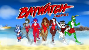 Baywatch Furries [Collab] by The-B-Meister