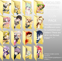 CharloteStraw's Vocaloid Folder Icon Pack by RandomDraggon