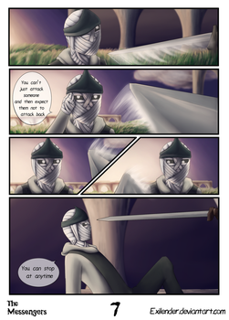 The Messengers pg 7 by Exilender