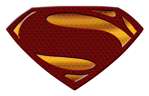 Man Of Steel Shield by teresa-mendoza-rod